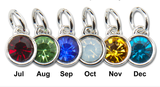 4 Pieces 12 mm Swarovski Crystal Birthstone Charms