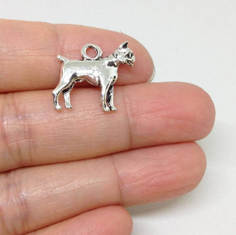 10pcs Boxer Dog charm