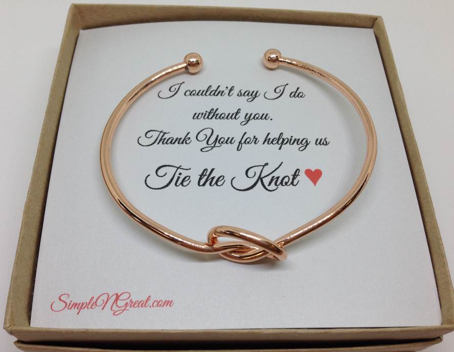 wedding gift wholesale  sc 1 st  SimpleNGreat.com & Love Knot Bracelet perfect for Bridesmaids Gift This bracelet is ...
