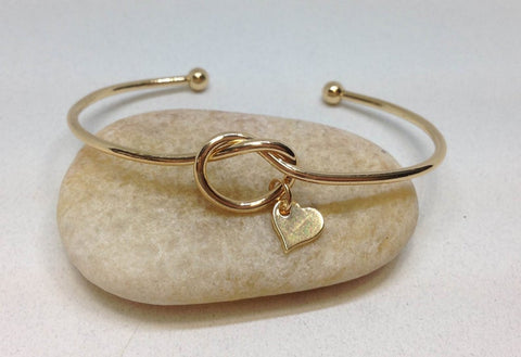 Wholesale Bridesmaid Gifts, Love Knot Bangle