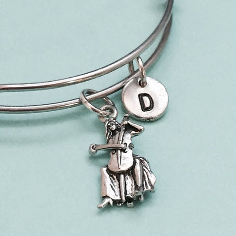 Cello Player Initial Bangle Personalized Jewelry Bridesmaid Gifts, cat bangle bracelet