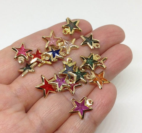 30pcs Color Stars Charm