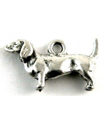 10 Daschund Charm, Dog Charm, Charm for Bracelet
