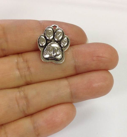 10pcs Dog Paw Charm