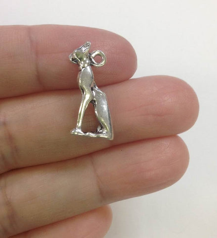10pcs Egyptian Cat Charm