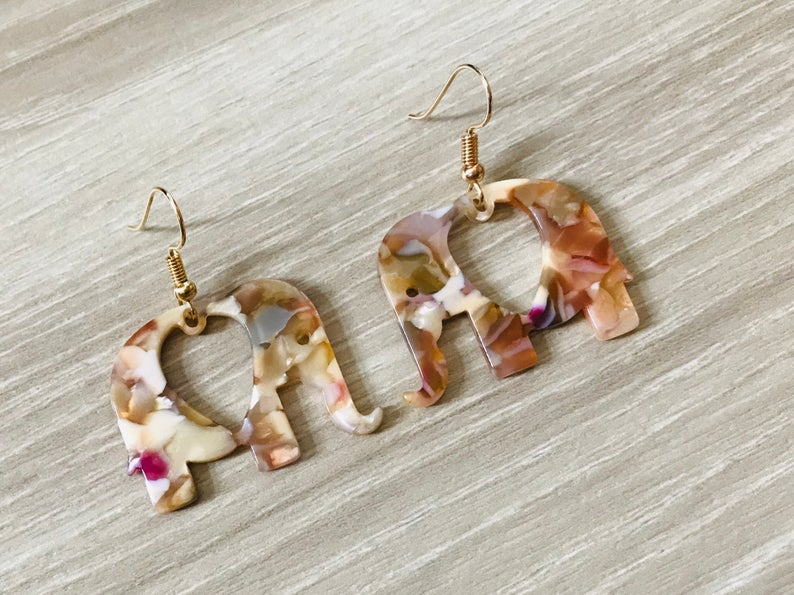 Elephant Tortoise Shell earrings