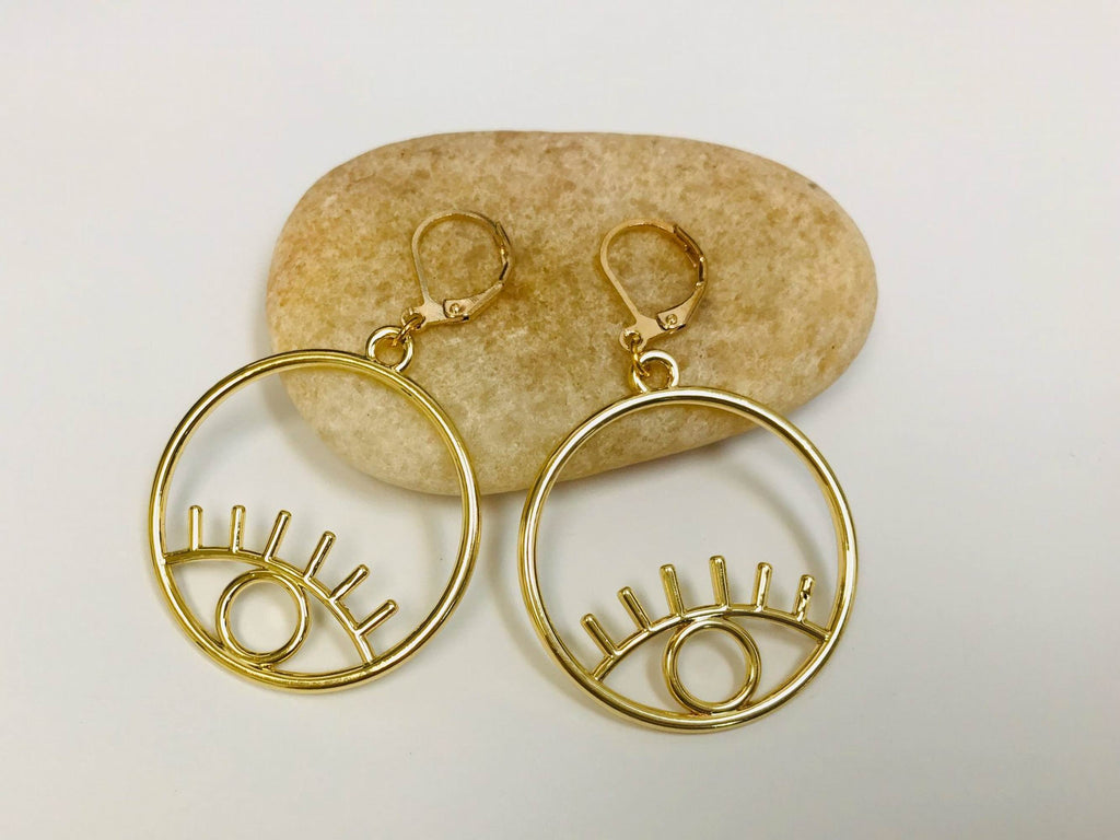 Picasso Eye Leverback Earrings