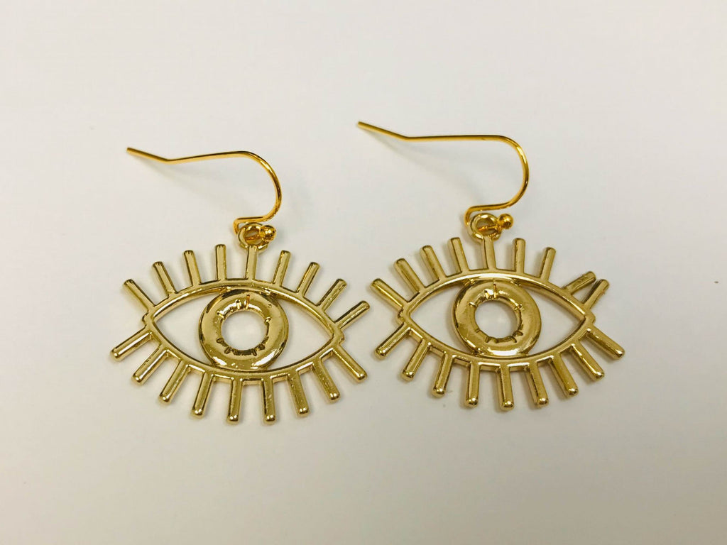 Evil Eye Earrings Leverback