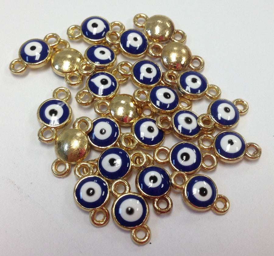 Blue Evil eye connector charm