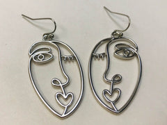 Picasso Face Earrings, Statement Earrings