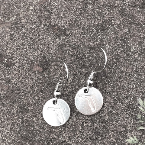 Custom State Home Town Earrings -50 States Available
