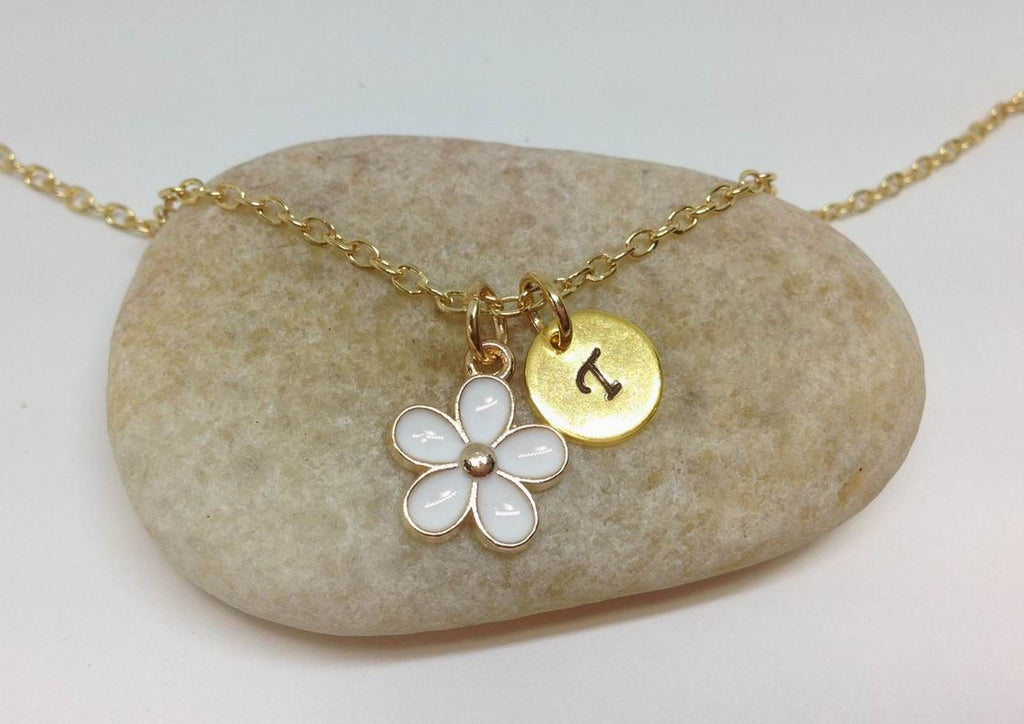 Flower Girl Best Friend Daisy Charm Necklace WH