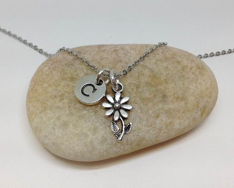 Tiny Flower Charm Best Friend Necklace