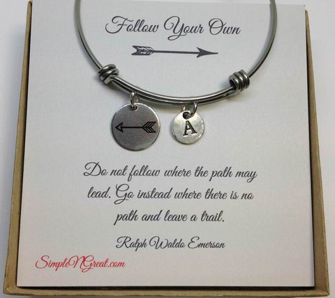 Follow Your Own Arrow Charm Bracelets