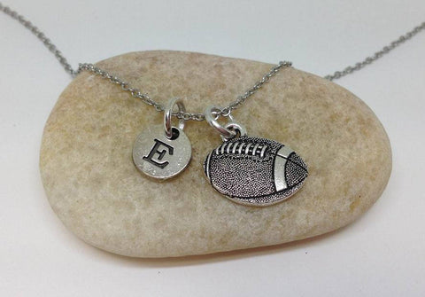 Football Charm Necklace, Personalized Team Necklace