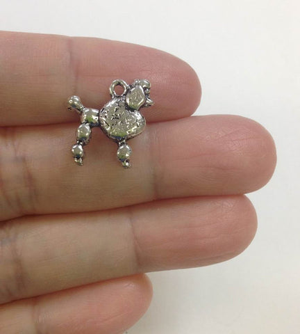 10 Poodle Charm for DIY Jewelry