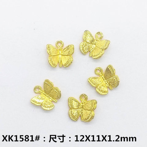 tiny gold butterfly charm