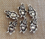 6 Wholesale Monkey See No Evil Charm, Hear No Evil Charms, Speak No Evil Charms