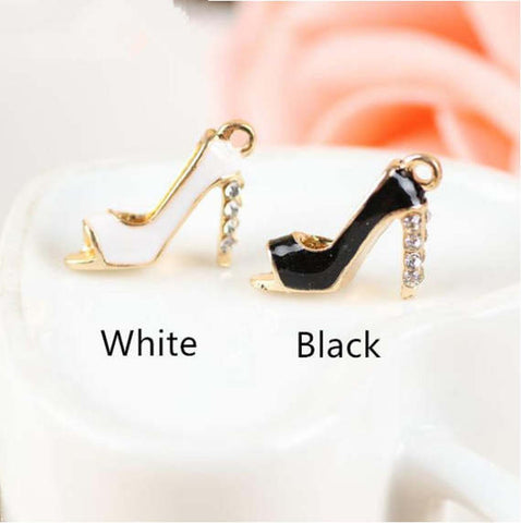 High heel charms 3D Enamel Charm Great for DIY Jewelry making
