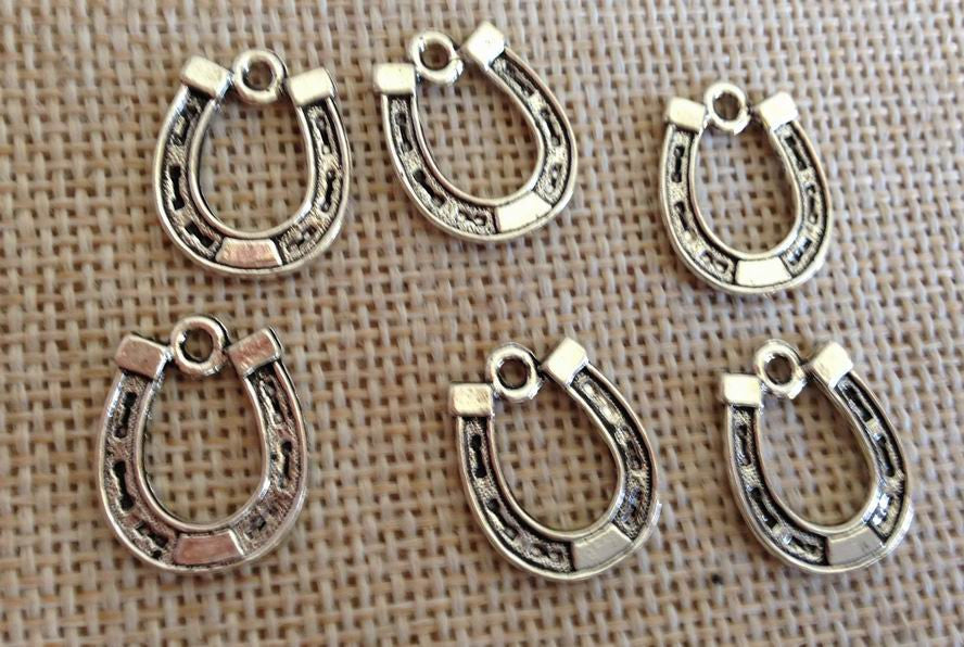 10 Lucky Horse Shoe charm