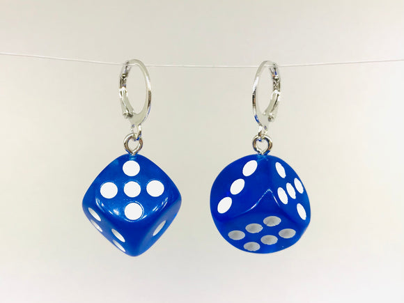 3D Dice Earrings