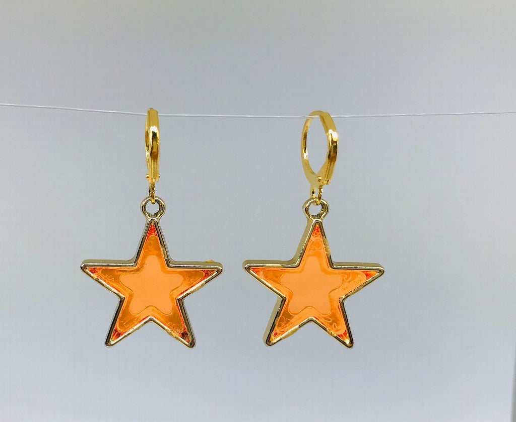 Citrus Transparent Star Earrings,Novelty Earrings