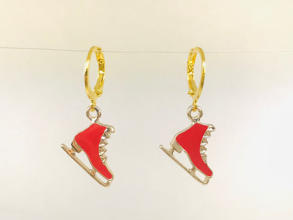 Ice Skate Shoes Earrings