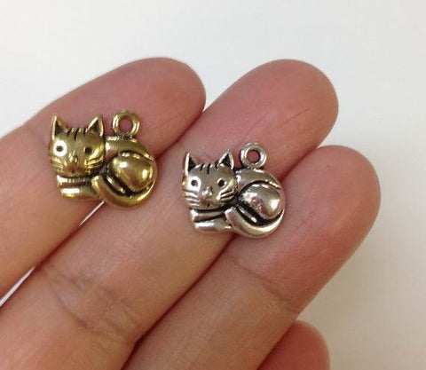 10 Kitten Charm, Kitty Charm, Cat Charm