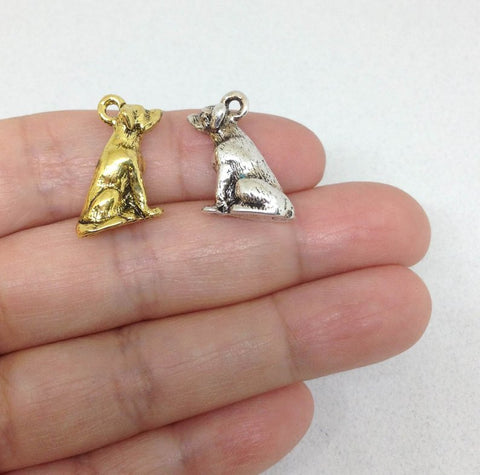10pcs Lab Dog Charm, Pet Labrador Retriever Charm