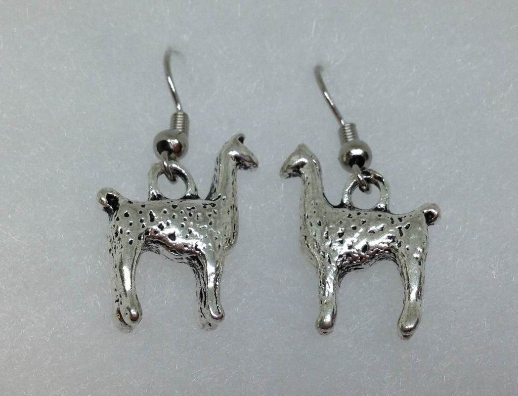Llama Earrings alpaca charm earrings