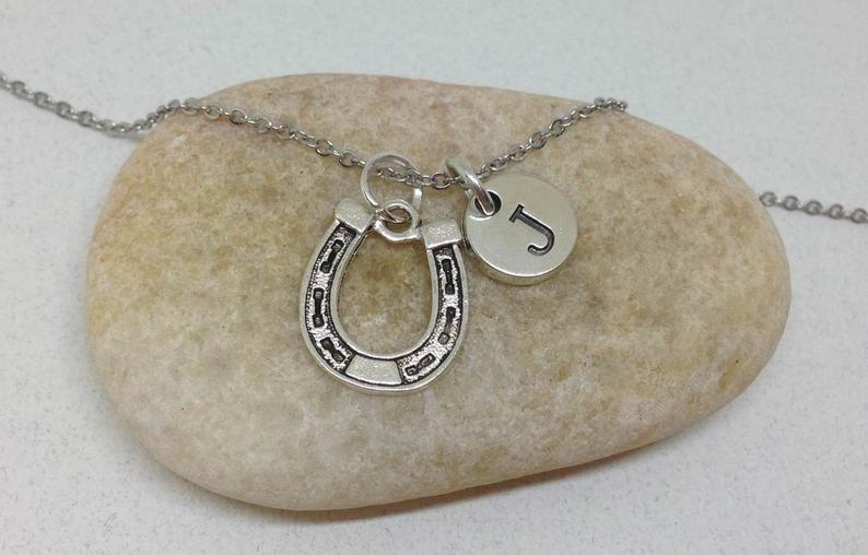 Horse Shoe Charm Personalized Necklace