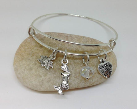 Mermaid Expandable Bangle Bracelet