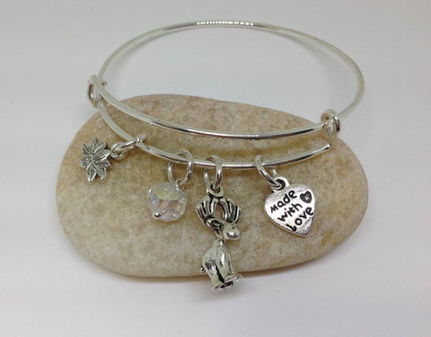 Moose Expandable Bangle Bracelet 3D Cute Cool hnd Wired Bead