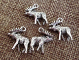10 Moose Charms wholesale pewter charm, Charm for Bracelet, Charms for Necklaces, Wholesale Charms