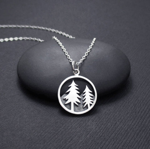 Forest Tree Charm Necklace