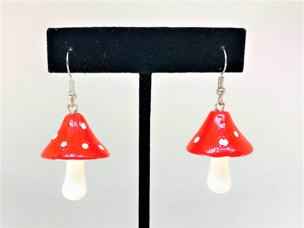 Mushroom Novelty Earrings, Fungi Jewelry
