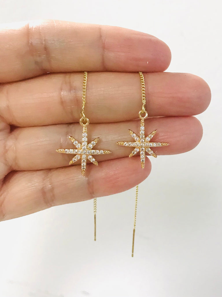 northern star threaders celestial earrings