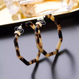 Octagon Acetate Tortoise Shell earrings