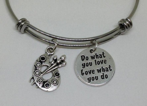Painer Do What You Love Dog Bangle Bracelet Hobby Wholesale Handmade Stainless Steel Sports