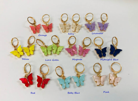 Tiny butterfly earrings wholesale