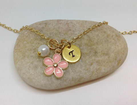 Flower Girl Best Friend Daisy Charm Necklace PK