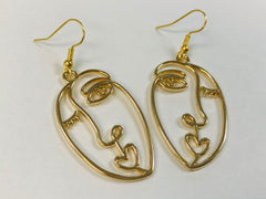 Picasso Face Statement Earrings