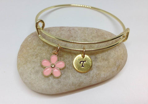 Flower Girl Best Friend Daisy Charm Bangle Bracelet PK