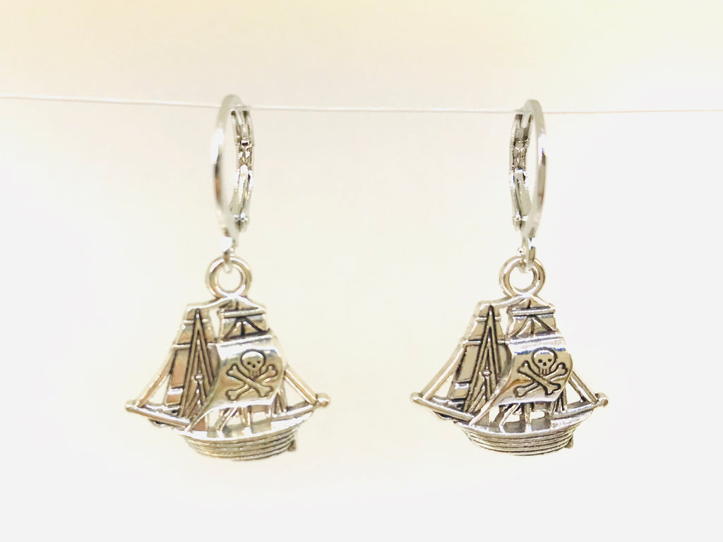 Pirate Ship Earrings