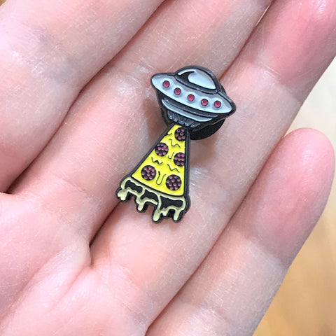 Tiny pizza space shuttle Pin
