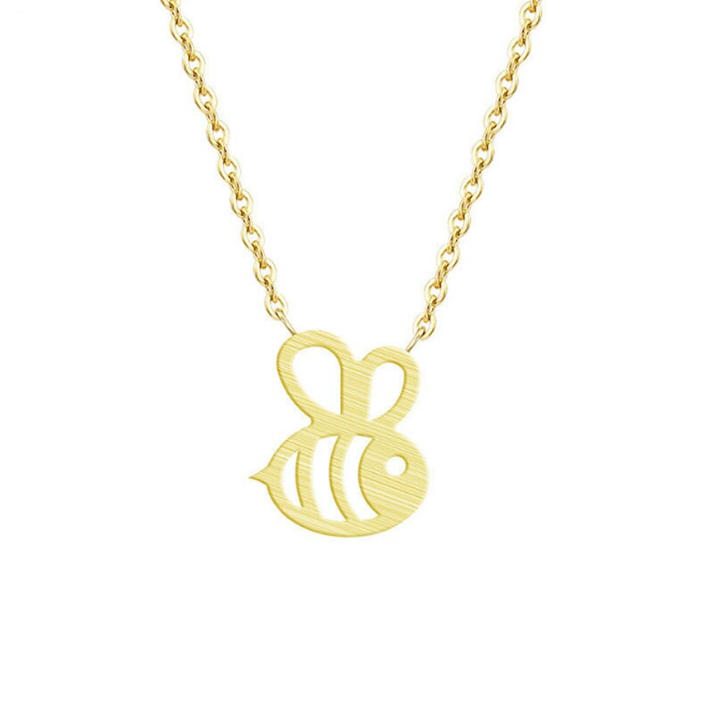 Honey Bee Chain Pendant Choker Necklace for Her