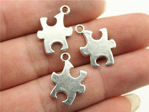 6 Wholesale Puzzle Pewter Charm