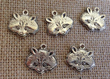 1 Racoon Charms wholesale pewter charm, Charm for Bracelet, Charms for Necklaces, Wholesale Charms