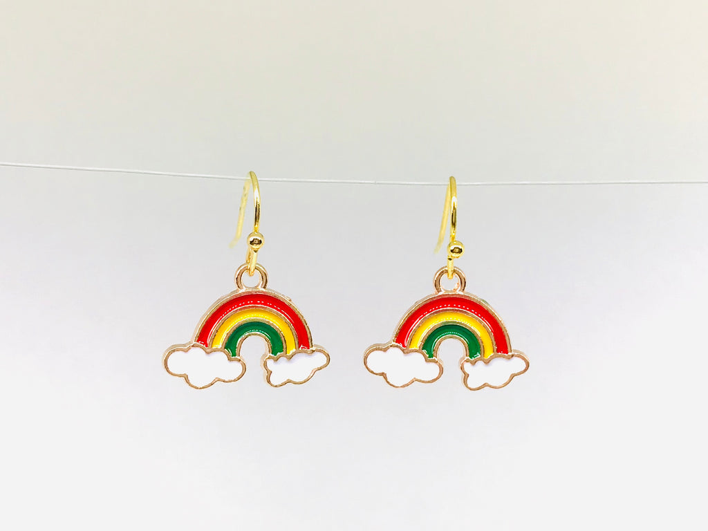 rainbow's end earrings funky novelty gift Kawaii