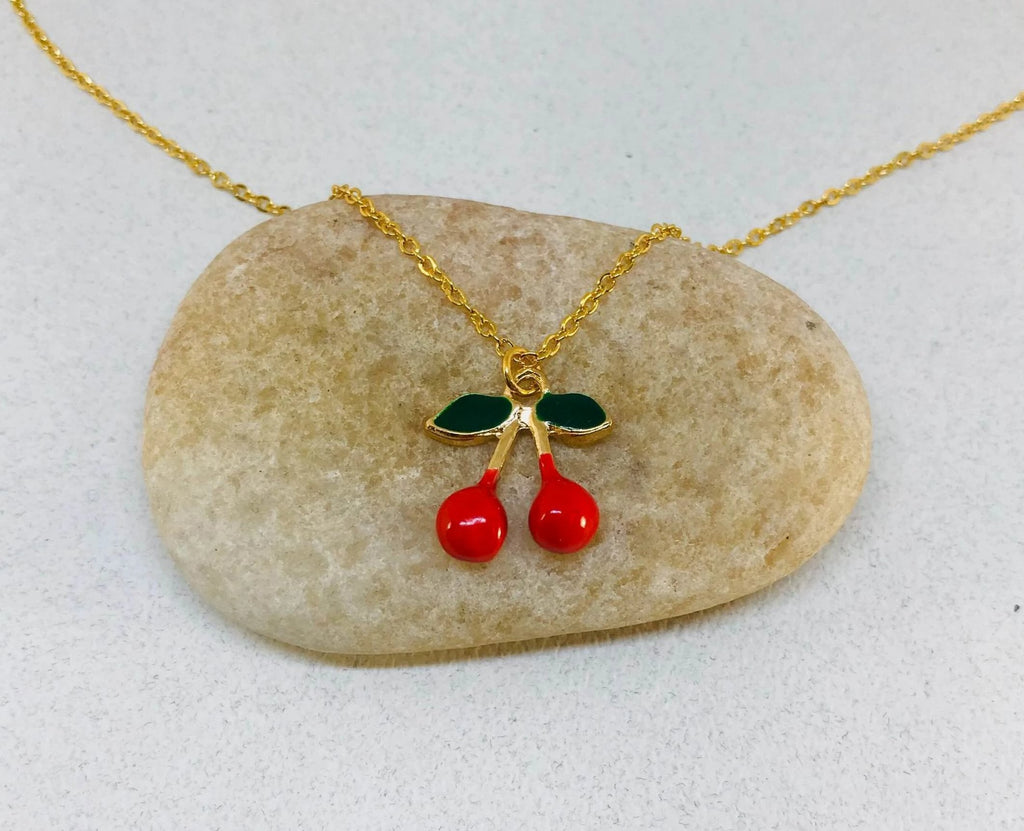 Red Cherry Necklace, Kid's necklace, Kid's party Gift